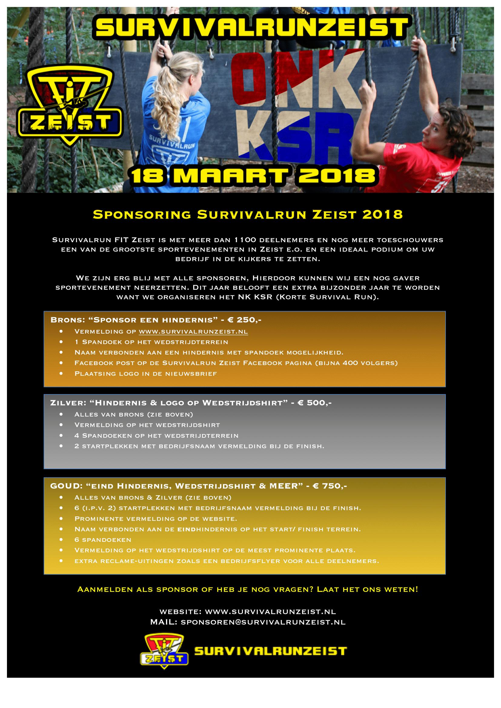 Sponsoring survivalrun Zeist 2018-1